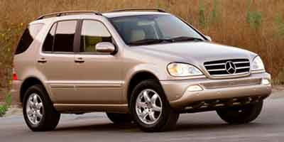 2003 Mercedes M-Class Sport Utility ABS 4-Wheel Disc Brakes 5-Speed AT AC AT Adjustable Ste